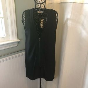 Sophie Rue Sleeveless Blouse Front ZIP Long Back
